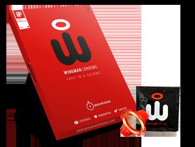 "Wingman 12 Kondome mit einfachem ""Flügel"" Applikator"