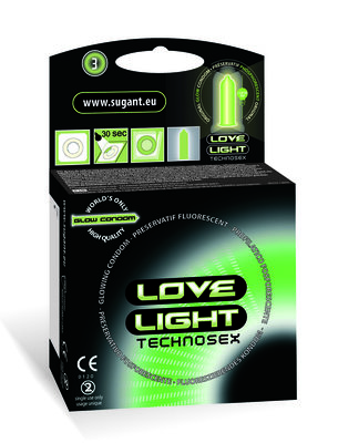 Love Light 3 lichtgevende condooms glow in the dark