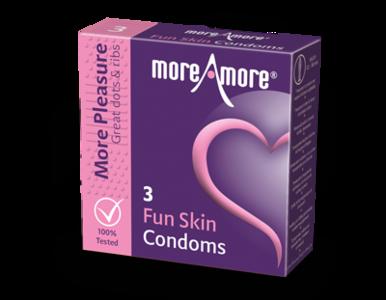 MoreAmore More Pleasure Fun Skin 3 condooms