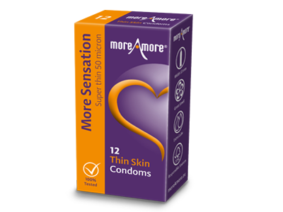 MoreAmore More Sensation Thin Skin 12 condooms