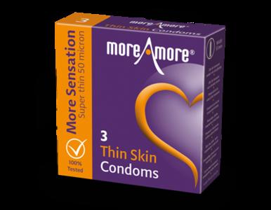 MoreAmore More Sensation Thin Skin 3 condooms
