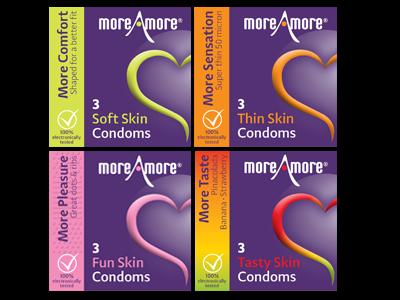 Combipack 4x3 MoreAmore Condooms